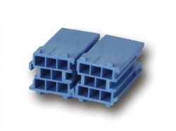 MINI ISO Steckergehäuse BLAU 8 polig