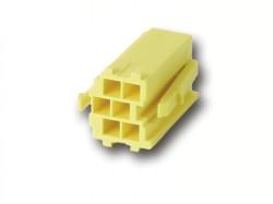 MINI ISO Steckergehäuse GELB 6 polig