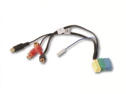 6 pol. MINI ISO-Stecker auf 4-Cinch Buchsen