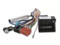 Radioadapter CITROEN, PEUGEOT mit Quadlockstecker + Phantomadapter - ISO