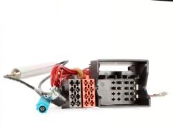 Radioadapter AUDI  Quadlock - ISO + Phantomadapter FAKRA - ISO
