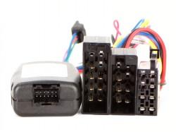 Lenkradfernbedienungsadapter RENAULT mit 10pol ISO Stecker und Display im Radio