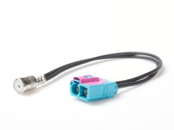 Antennenadapter AUDI, SEAT, SKODA, VW doppel Fakra(f)-ISO(f)