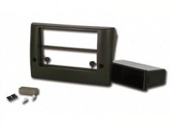 Radioblende FIAT Stilo 2001-08 2DIN mit Fach schwarz