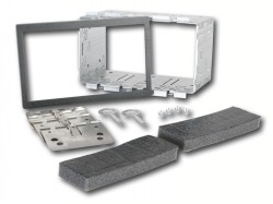 Metall Installations Kit für Doppel ISO Blenden  182 x 113 mm