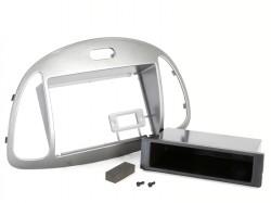 Radioblende HYUNDAI i10 2008-13 2DIN mit Fach silber