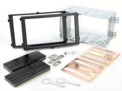 Radioblende SSANGYONG Rexton II ab 2006 2DIN schwarz Installer Kit