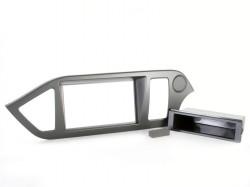 Radioblende KIA Picanto ab 2011 2DIN mit Fach schwarz