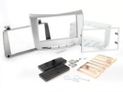 Radioblende LANCIA Delta ab 2009 2DIN silber Installer Kit