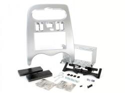 Radioblende DACIA Duster, Logan, Sandero ab 2011 2DIN silber Installer Kit