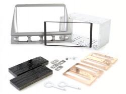 Radioblende KIA Picanto 2005-08 2DIN silber Installer Kit