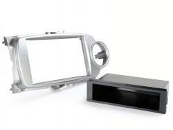 Radioblende TOYOTA Yaris ab 2011 2DIN mit Fach silber