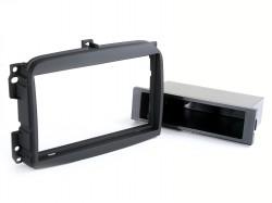 Radioblende FIAT 500 L ab 2012 2DIN mit Fach schwarz