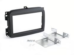 Radioblende FIAT 500 L ab 2012 2DIN schwarz Installer Kit