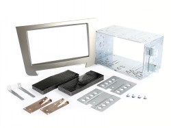 Radioblende SSANGYONG Rexton III ab 2013 2DIN silber Installer Kit