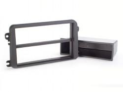 Radioblende SKODA, VW 2DIN mit Fach schwarz Soft Touch