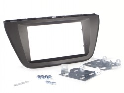 Radioblende SUZUKI SX4, S-CROSS ab 2013 2DIN dunkelgrau Installer Kit