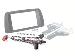 Radioblende SEAT Ibiza ab 2014 2DIN schwarz-anthrazit Installer Kit