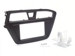 Radioblende HYUNDAI i20 ab 2015 2DIN schwarz matt Installer Kit