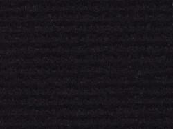 Moquette schwarz , gerippt - Meterware!