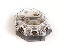 Stromverteilerblock  1 x 50qmm + 1 x 35qmm + 2 x 20qmm + 2 x 10qmm