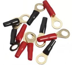 Ringkabelschuh 6qmm rot/schwarz 10er Pack