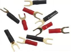 Gabelkabelschuh  bis 2,0qmm rot/schwarz 10er Pack