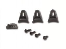 Befestigungsset für Lautsprechergitter mit 4 Klammern und 4 Schauben