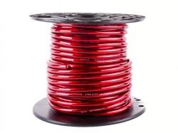 Stromkabel 10qmm Rollenware rot KUPFER