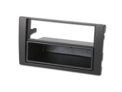 Radioblende AUDI A4 ab 2002-06 2DIN mit Fach schwarz