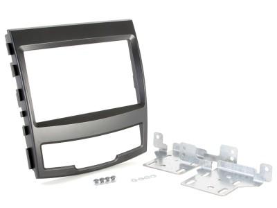 Radioblende SSANGYONG Korando ab 2010 2DIN schwarz Installer Kit