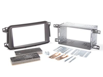 Radioblende SMART ForTwo ab 2010 2DIN schwarz  Installer Kit