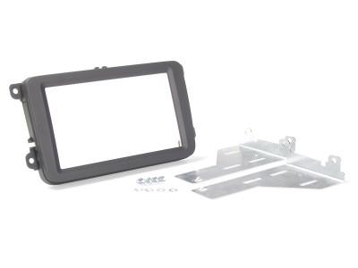 Radioblende SKODA, VW 2DIN Soft Touch schwarz Profi Installer Kit
